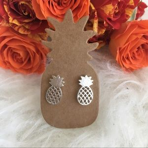 Jewelry - Pineapple earrings studs in silver color